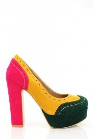 Pantofi cu toc 16957-53228 verde