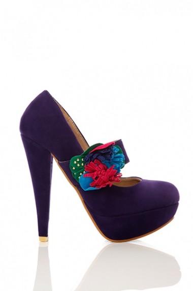 Pantofi cu toc 17653-55146 Bleumarin