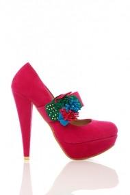 Pantofi cu toc 17653-55148 fucsia