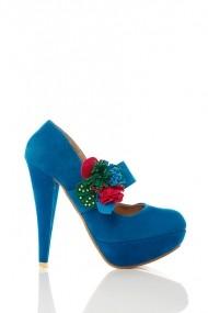 Pantofi cu toc 17653-55149 Albastru