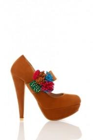 Pantofi cu toc 17653-55150 Maro