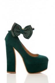 Pantofi cu toc 17655-55160 verde