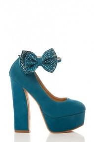 Pantofi cu toc 17655-55162 albastru