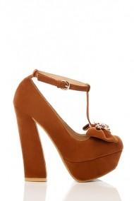 Pantofi cu toc 17656-55165 maro