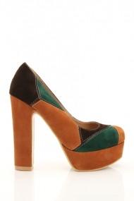 Pantofi cu toc 18380-57210 Maro