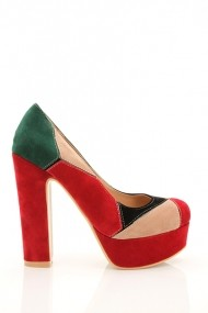 Pantofi cu toc 18380-57211 Maro