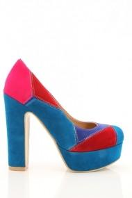 Pantofi cu toc 18380-57213 albastru