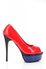 Pantofi cu toc 19394-59779 Rosu