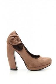 Pantofi cu toc 20076-61477 Kaki