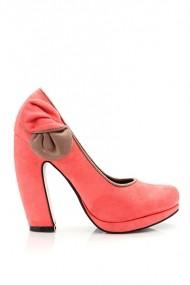 Pantofi cu toc 20076-61479 portocaliu