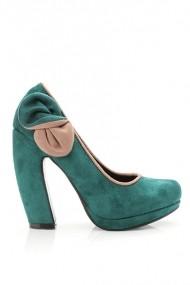 Pantofi cu toc 20076-61482 verde