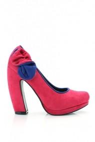 Pantofi cu toc 20076-61483 fucsia