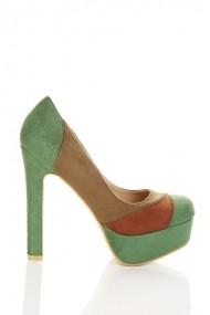 Pantofi cu toc 22914-69609 Verde