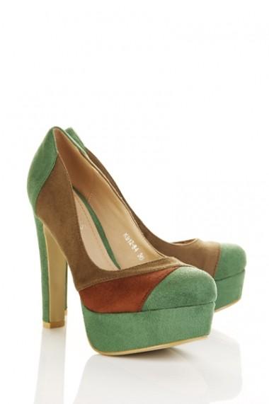 Pantofi cu toc 22914-69610 Negru