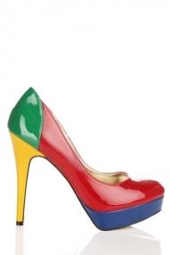 Pantofi cu toc 23822-72227 multicolor
