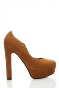Pantofi cu toc 24080-72943 Maro