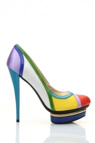 Pantofi cu toc 24629-74214 alb