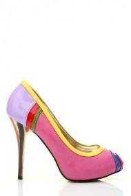 Pantofi cu toc 25135-75694 rosu