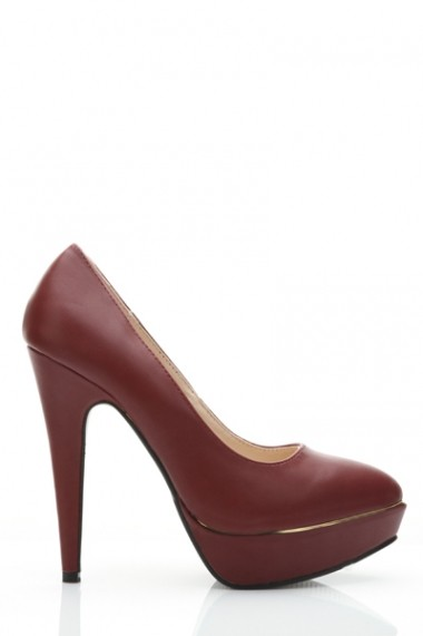 Pantofi cu toc 25557-76844 Bordo - els