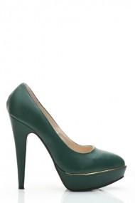 Pantofi cu toc 25557-76845 verde