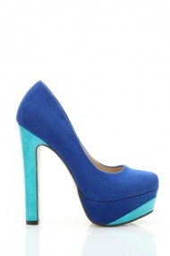 Pantofi cu toc 26038-78197 Albastru