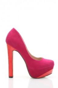 Pantofi cu toc 26038-78198 fucsia