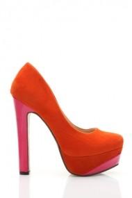 Pantofi cu toc 26038-78200 portocaliu