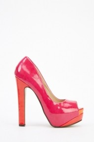Pantofi cu toc 26039-78201 fucsia