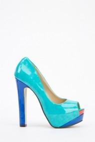 Pantofi cu toc 26039-78203 turcoaz
