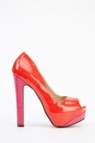 Pantofi cu toc 26039-78205 rosu