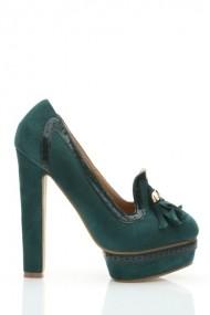 Pantofi cu toc 26040-78207 verde