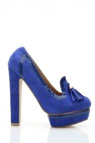 Pantofi cu toc 26040-78208 albastru