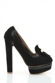 Pantofi cu toc 26040-78210 negru