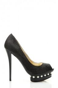 Pantofi cu toc 26636-79679 negru