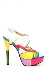 Sandale cu toc 27086-80870 Multicolor