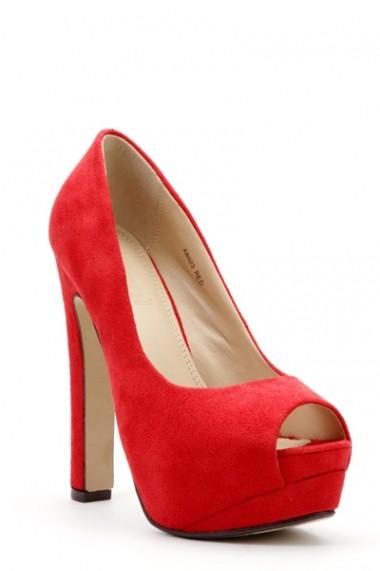 Pantofi cu toc 27745-82435 portocaliu