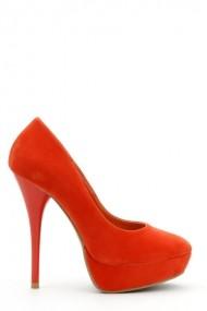 Pantofi cu toc 28367-83968 portocaliu