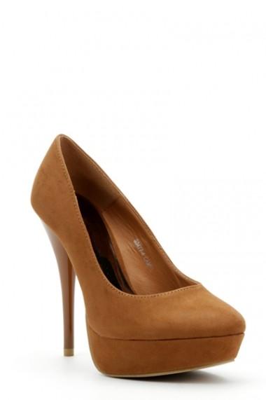 Pantofi cu toc 28367-83969 Maro