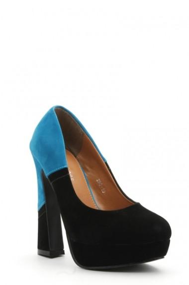 Pantofi cu toc 30578-89190 albastru