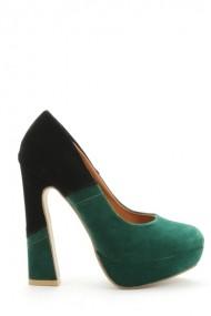 Pantofi cu toc 30578-89194 Verde