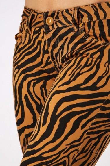 Pantaloni slim 30584-89204 maro