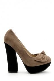 Pantofi cu toc 30784-89422 Kaki