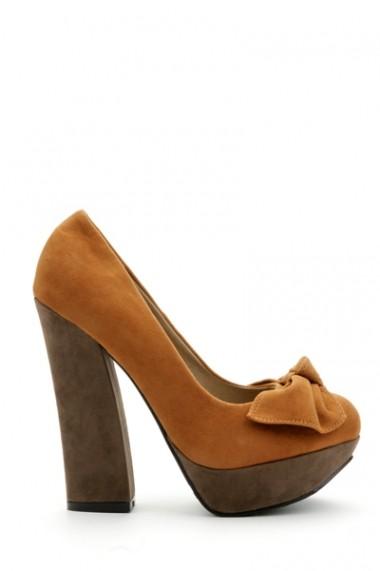 Pantofi cu toc 30784-89423 Maro