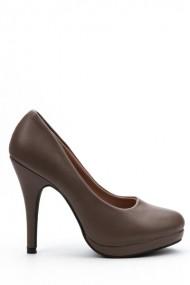 Pantofi cu toc 32111-92314 kaki