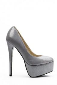 Pantofi cu toc 32426-92885 Argintiu
