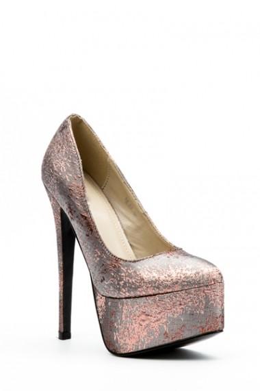 Pantofi cu toc 32427-92887 Gri