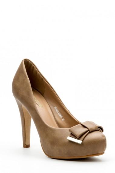 Pantofi cu toc 32534-93260 Maro