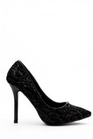 Pantofi cu toc 32730-93505 negru