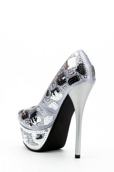 Pantofi cu toc 32859-93877 Negru