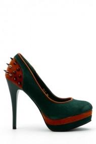 Pantofi cu toc 33338-95157 verde